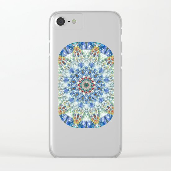 Kaleidoscope No. 3 - Blue Clear iPhone Case