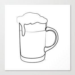 """ Kitchen Collection "" - Beer Mug Canvas Print"