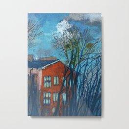 Nesting Season, Impressionism Spring Landscape Pastel Painting Metal Print