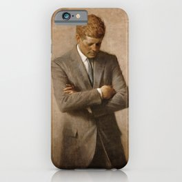 John F. Kennedy Painting iPhone Case