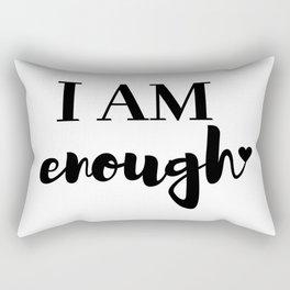 I AM enough <3 Rectangular Pillow