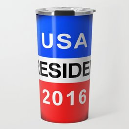 Vote Button President Travel Mug