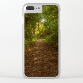 Autumn in the woods Clear iPhone Case