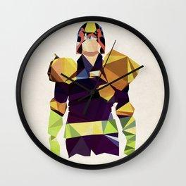 Polygon Heroes - Dredd Wall Clock