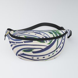 Water Flowing Plant Fanny Pack