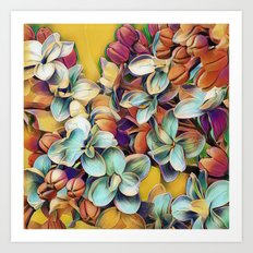 Painted Lilacs Art Print