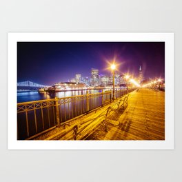 Old Pier and San Francisco Skyline Art Print