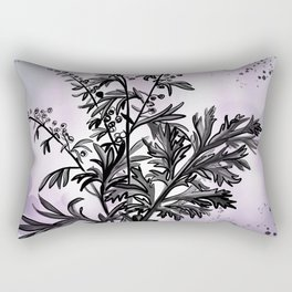Wormwood Botanical Illustration Rectangular Pillow