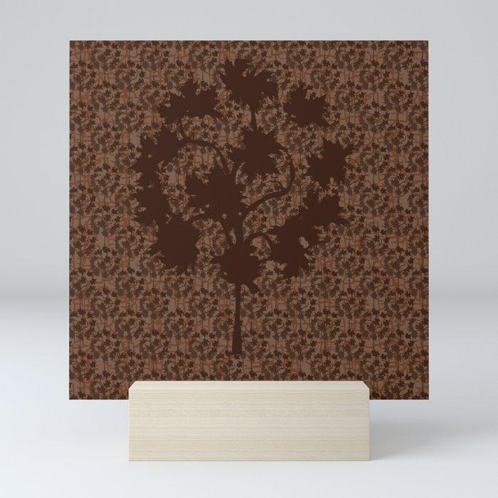 Fall's Forest Pattern Mini Art Print