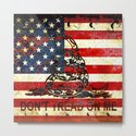 Don't Tread on Me - American Flag And Gadsden Flag Composition by molonlabecreations