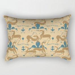 Animals Over Pots By Danae Anastasiou Rectangular Pillow