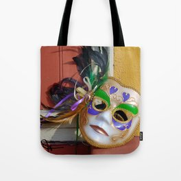 New Orleans Mardi Gras Mask Tote Bag