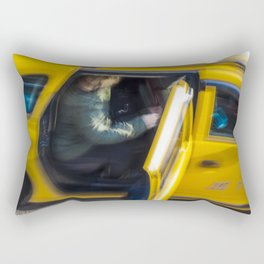Taxi passenger's coming out Rectangular Pillow