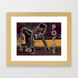 Focus African American Male Framed Art Print