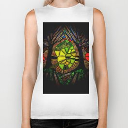 Stained Glass Forest Biker Tank
