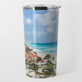 Cancun city on beachside Travel Mug