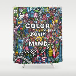 color your mind by Astorg Audrey Shower Curtain