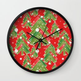 Christmas tree 2 Wall Clock