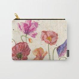 Watercolor Poppy Painting,Poppy Batik, Watercolor Batik,Poppy Watercolor, Wall Art, Floral Art, Carry-All Pouch