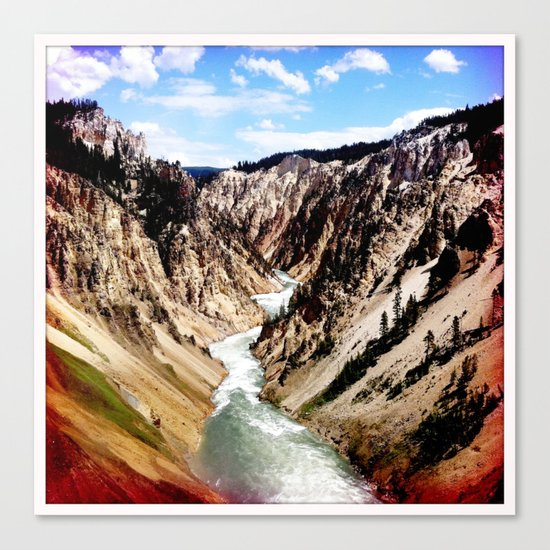 yellowstone river Canvas Print