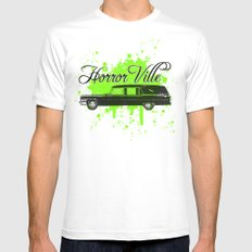 Galactic Hearse MEDIUM Mens Fitted Tee White