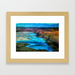 Monet's Rio Las Cruces New Mexico Framed Art Print