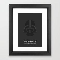 Star Wars Minimalism - Darth Vader Framed Art Print