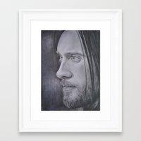jared leto Framed Art Prints featuring Jared Leto by Jenn
