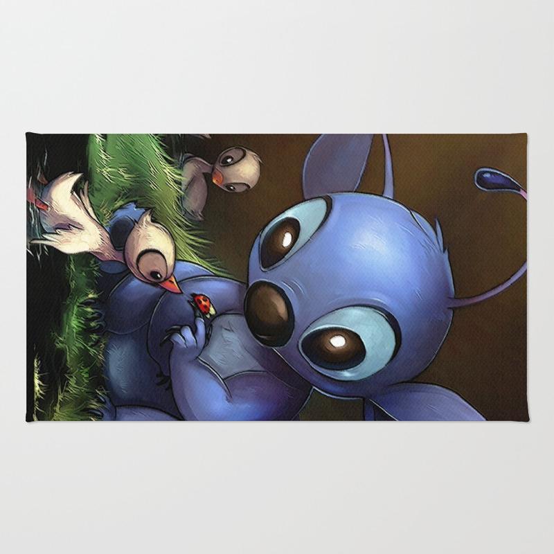 Lilo E Stitch: Cute Stitch Playing Rug by Marcomellark RUG4427605