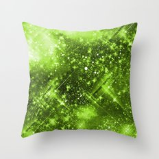 Dazzling Series (Green) Throw Pillow