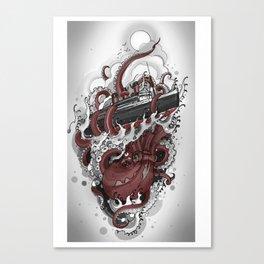 Octopus vs. Queen Mary Canvas Print