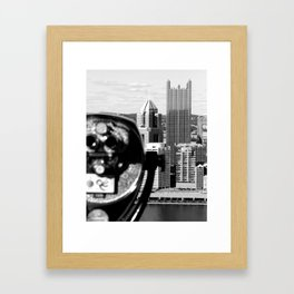 Viewing Pittsburgh Through the Looking Glass Framed Art Print