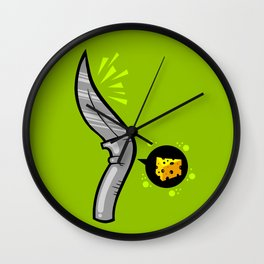 Cuttin' The Cheese Wall Clock
