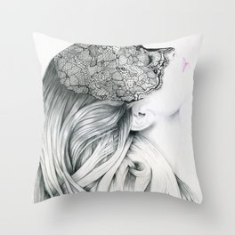 Lola - the intuitive lover Throw Pillow