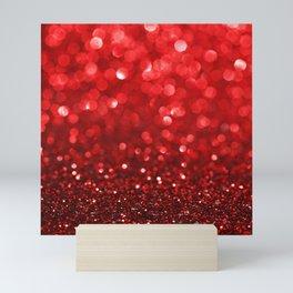 Ruby Red Disco Glitter & Sparkles Mini Art Print
