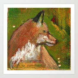 Heart of the Fox Art Print