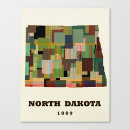 North Dakota state map modern Canvas Print