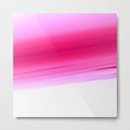 Pink White Smooth Ombre Metal Print