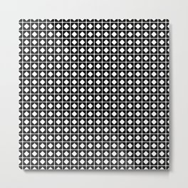 Grid Pattern-Black on White-Mix & Match with Simplicity of life Metal Print