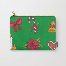 Christmas pattern (#2 green) Carry-All Pouch