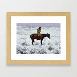 "Frederic Remington Western Art ""The Herd Boy"" Framed Art Print"