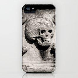 Gothic Skull and Bones iPhone Case