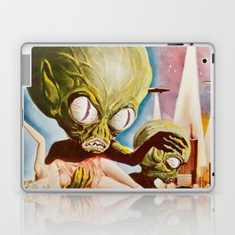 Invasion of the SaucerMen, Horror Movie Vintage Poster Laptop & iPad Skin