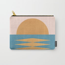 Sunrise Geometric - Midcentury Style Carry-All Pouch