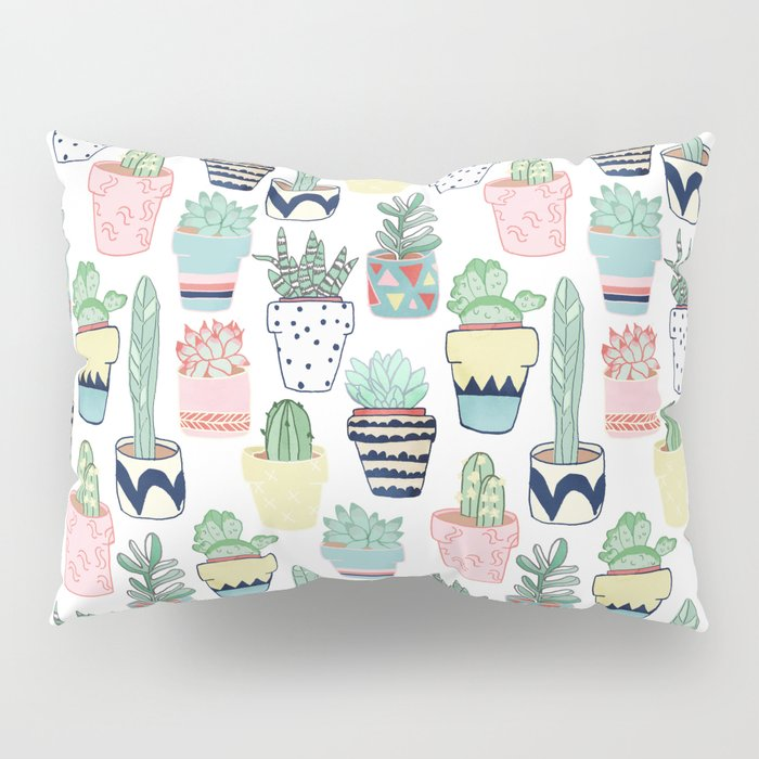 Cute Cacti in Pots Pillow Sham