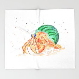 The Exploring Hermit Crab Throw Blanket