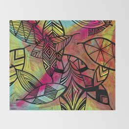 Crazy Leaves  Throw Blanket