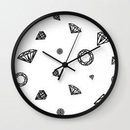 Crystals Wall Clock