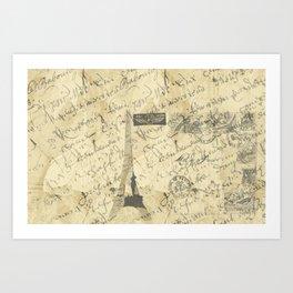 Parisian French Script Art Print