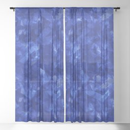 Dark pastel variegated blue stars in the projection. Sheer Curtain
